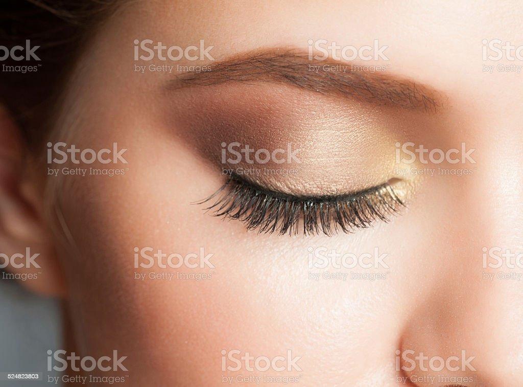 Eye makeup stock photo