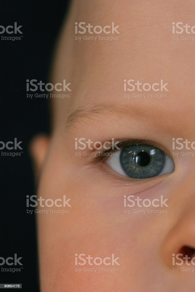 Eye of a child royalty-free stock photo
