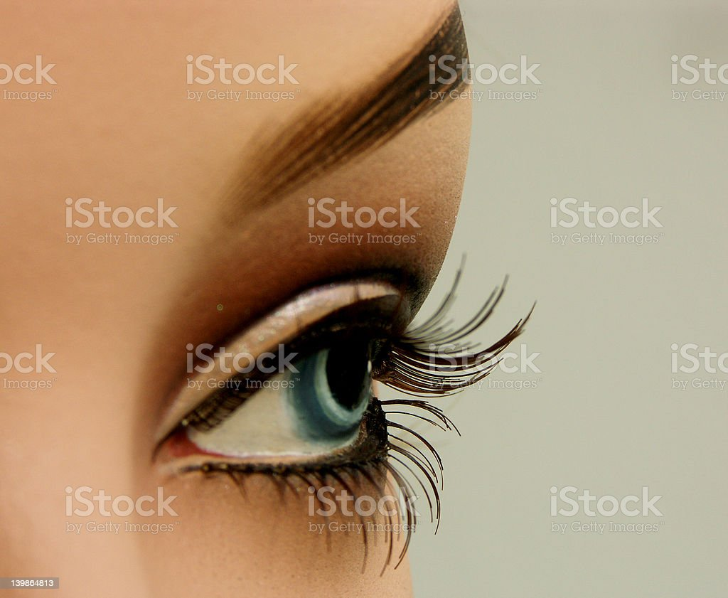 eye of a mannequin royalty-free stock photo