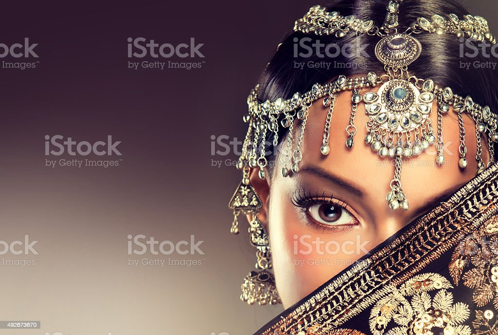 Eye of oriental woman. stock photo
