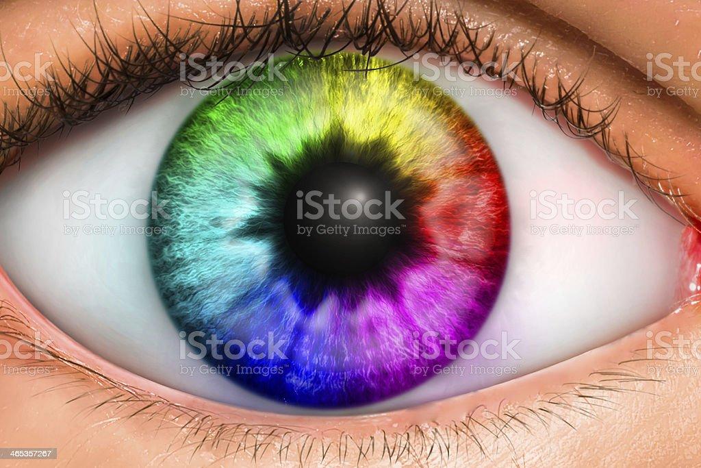 Eye of Life stock photo