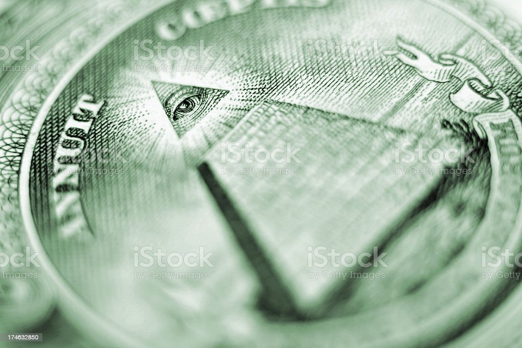 Eye of Providence Closeup - U.S. Dollar Bill stock photo