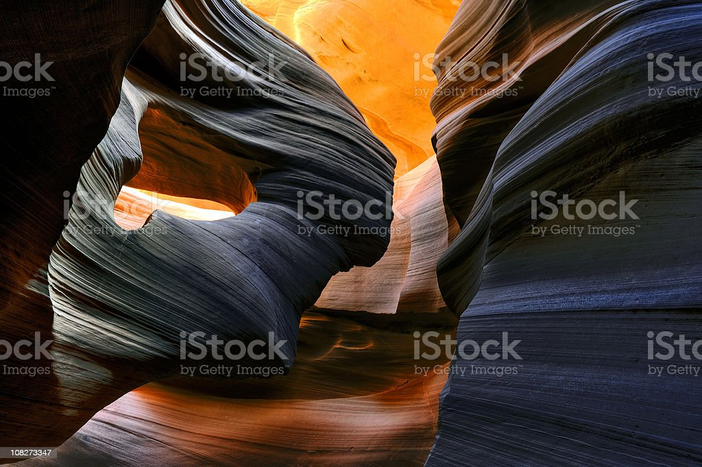 Eye of the eagle in Lower Antelope Canyon stock photo