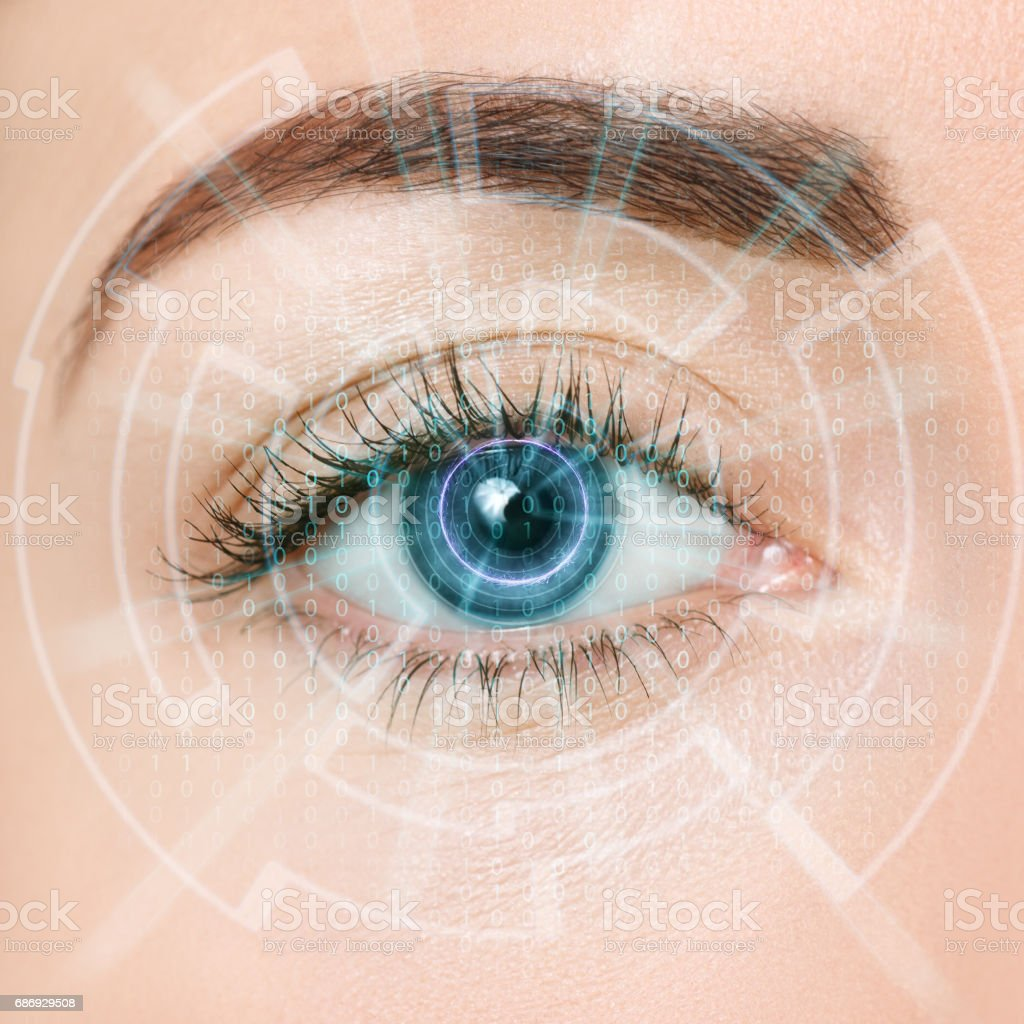 eye of the future stock photo