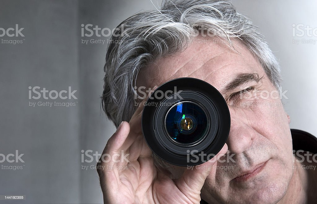 Eye of the photographer stock photo