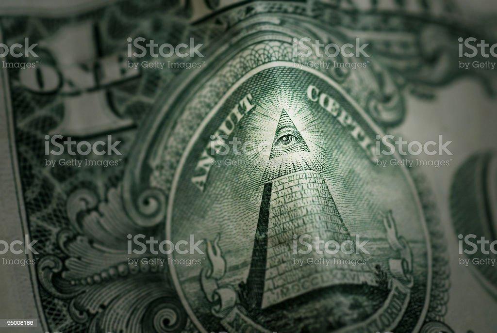 Eye of the Pyramid royalty-free stock photo