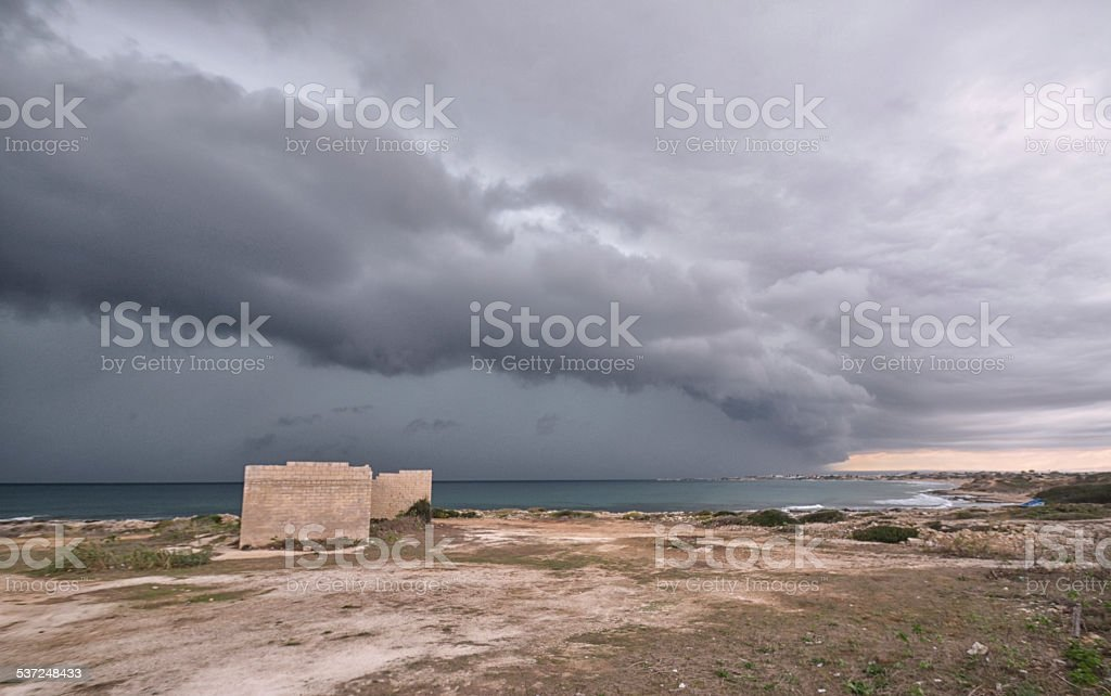 Eye of the storm stock photo
