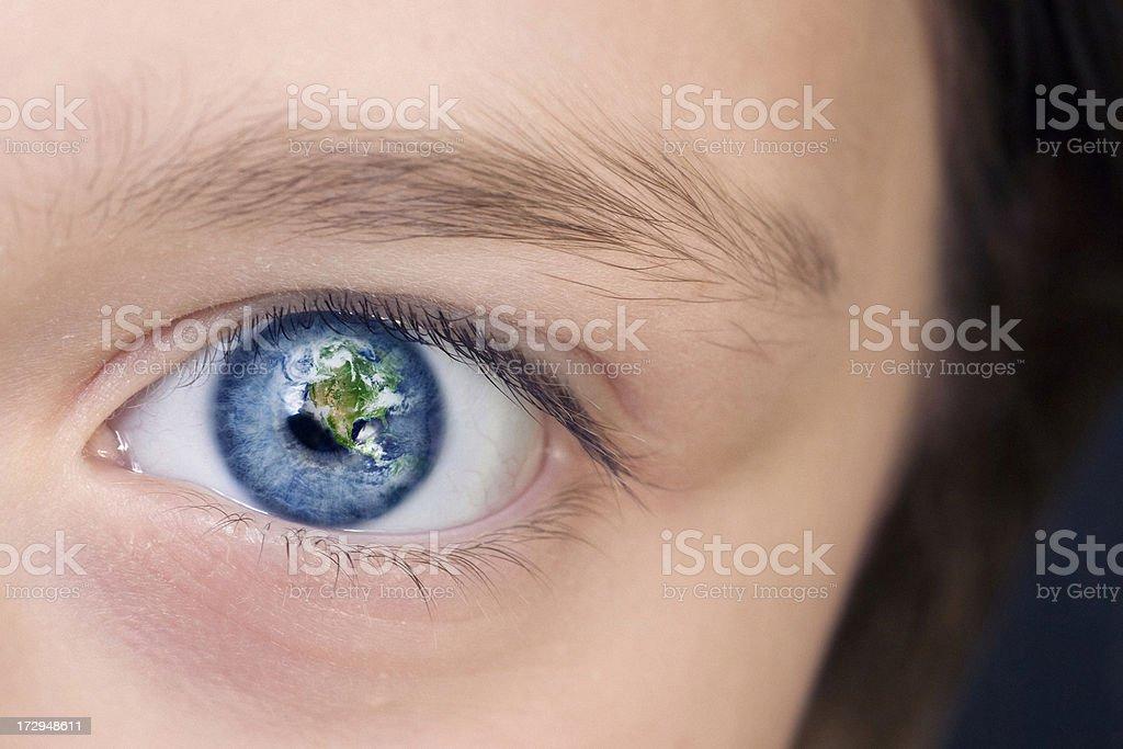 Eye of the world royalty-free stock photo