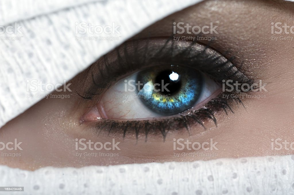 Eye of the Wounded stock photo