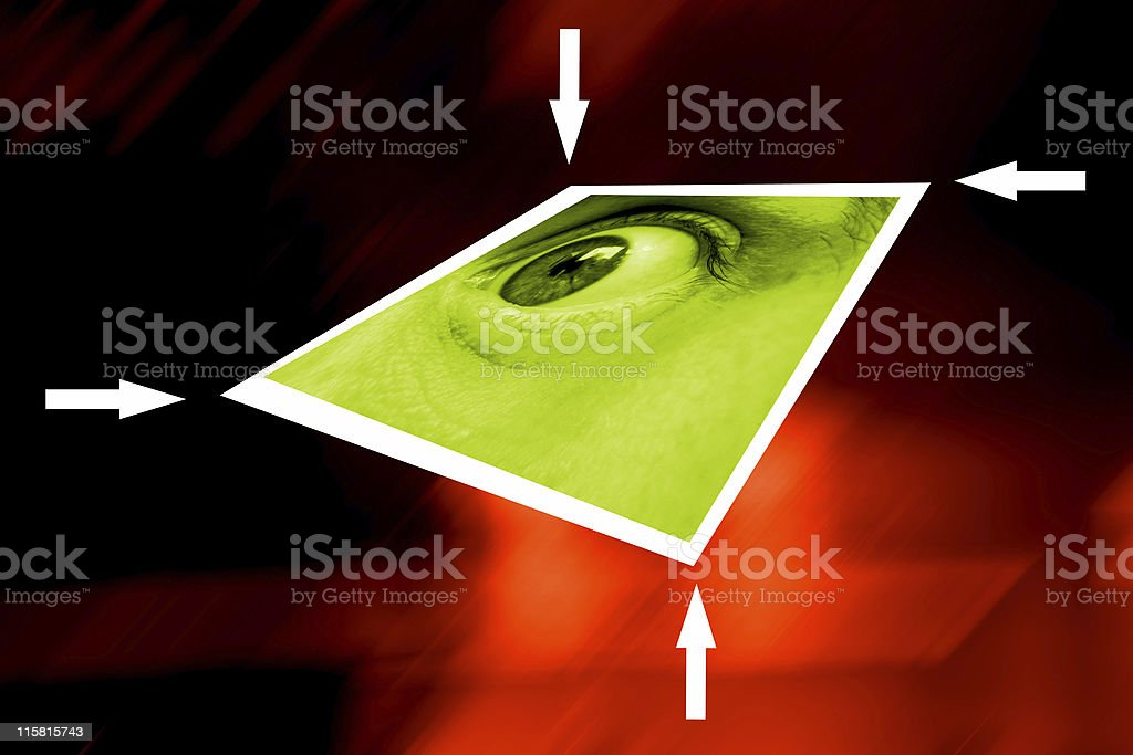 Eye on the surface royalty-free stock photo