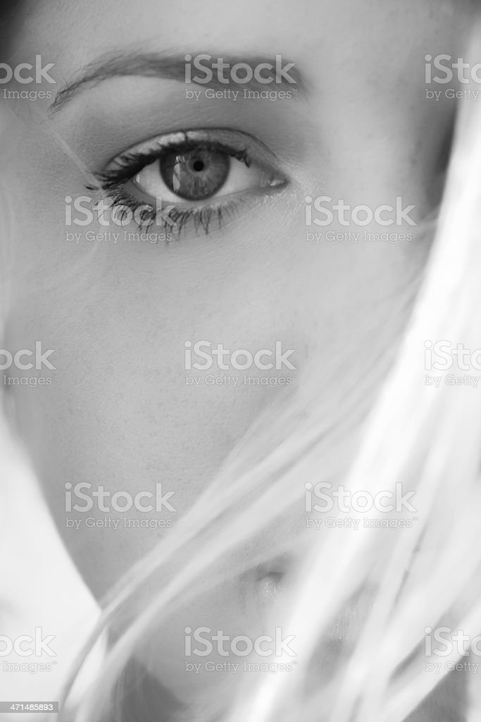 Eye power stock photo