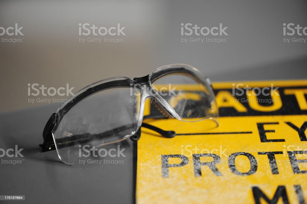 Eye protection stock photo