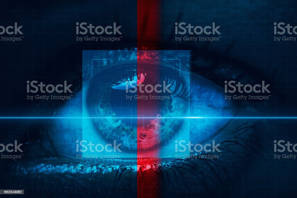 Eye scanner stock photo