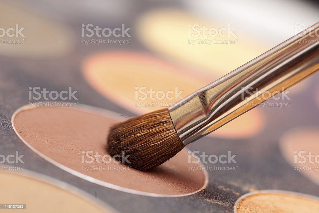 Eye shadow and brush royalty-free stock photo