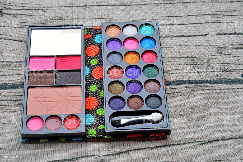 eye shadow kit stock photo