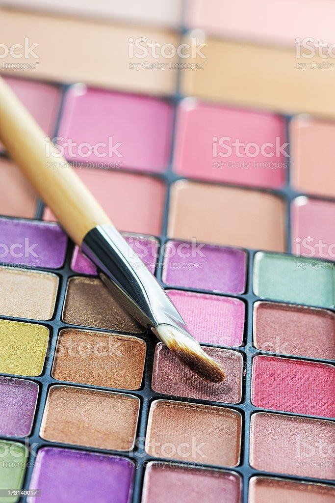 Eye shadows palette royalty-free stock photo