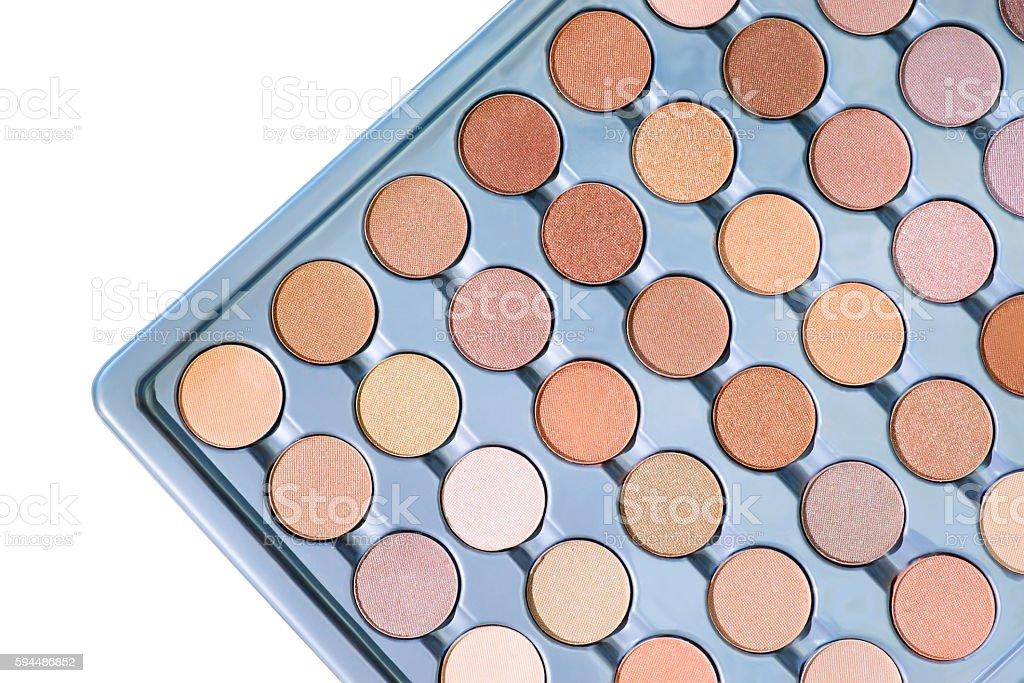 Eye shadows samples palette stock photo