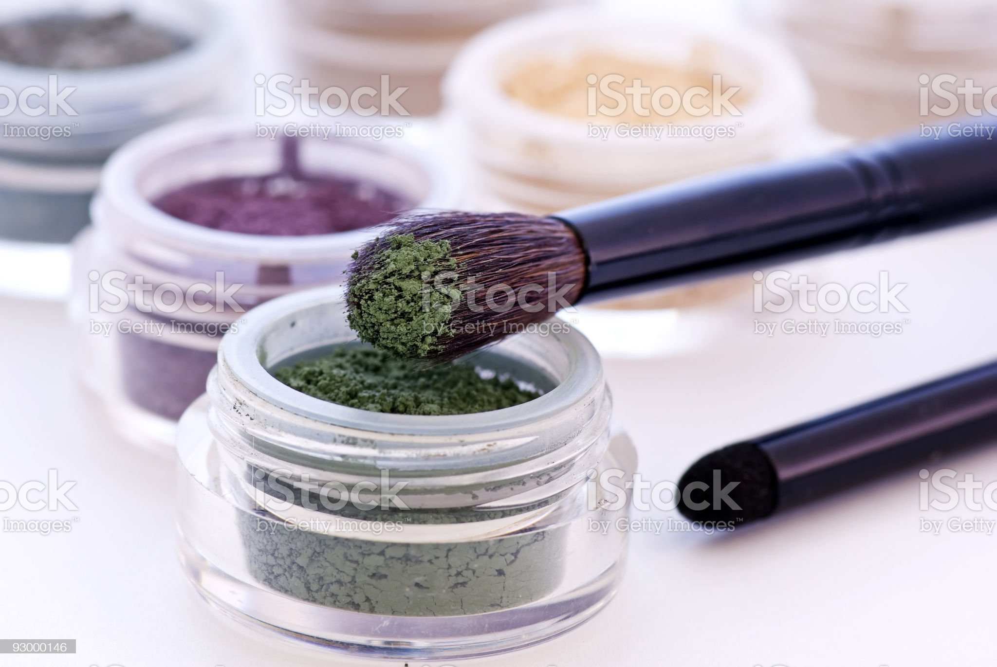 Eye Shadows with Brushes royalty-free stock photo