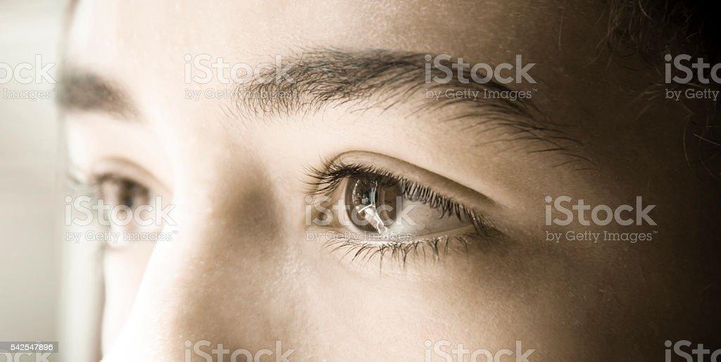 eye side stock photo