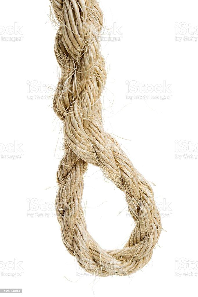Eye Spliced Into Sisal Rope stock photo