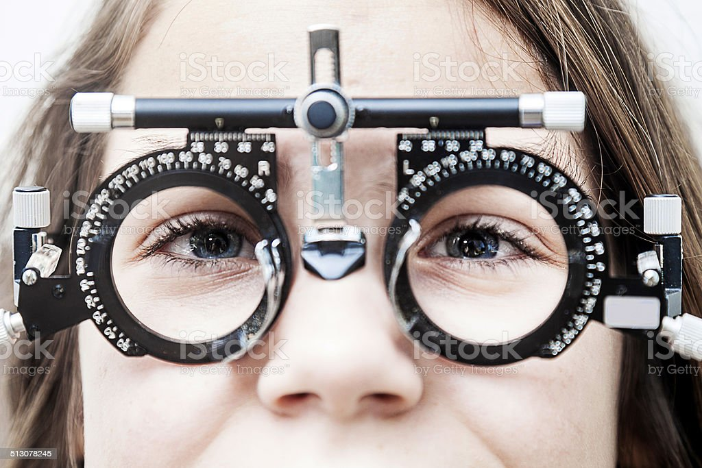 Eye Test Equipment stock photo