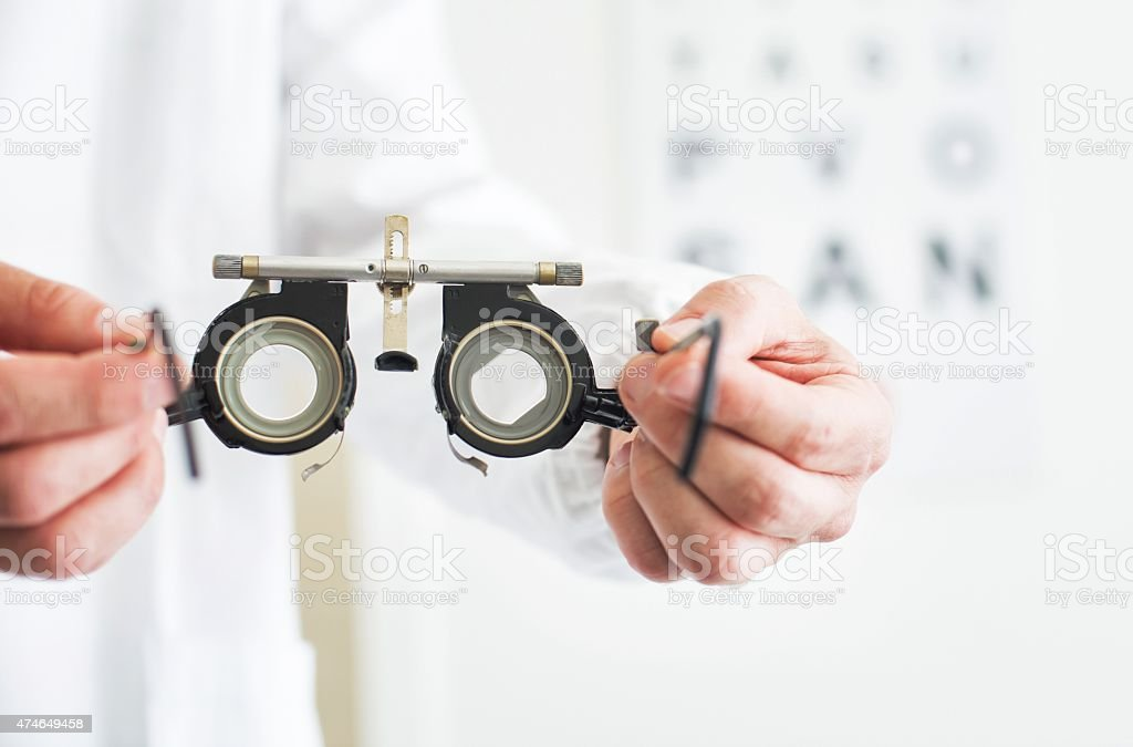 Eye Test. Medical Exam stock photo
