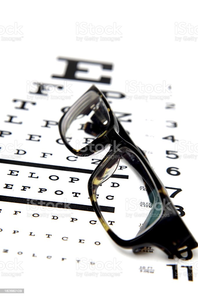 Eye Test royalty-free stock photo