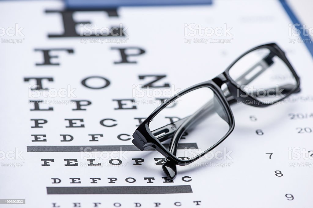 Eye test stock photo