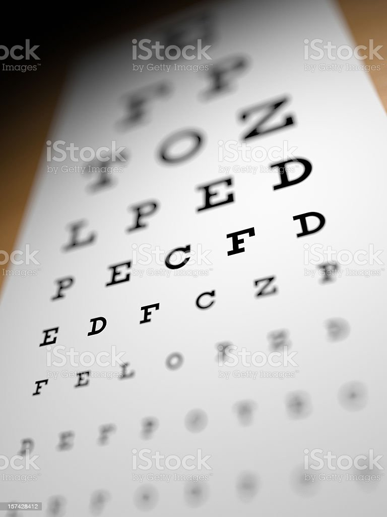 Eye Testing Chart stock photo