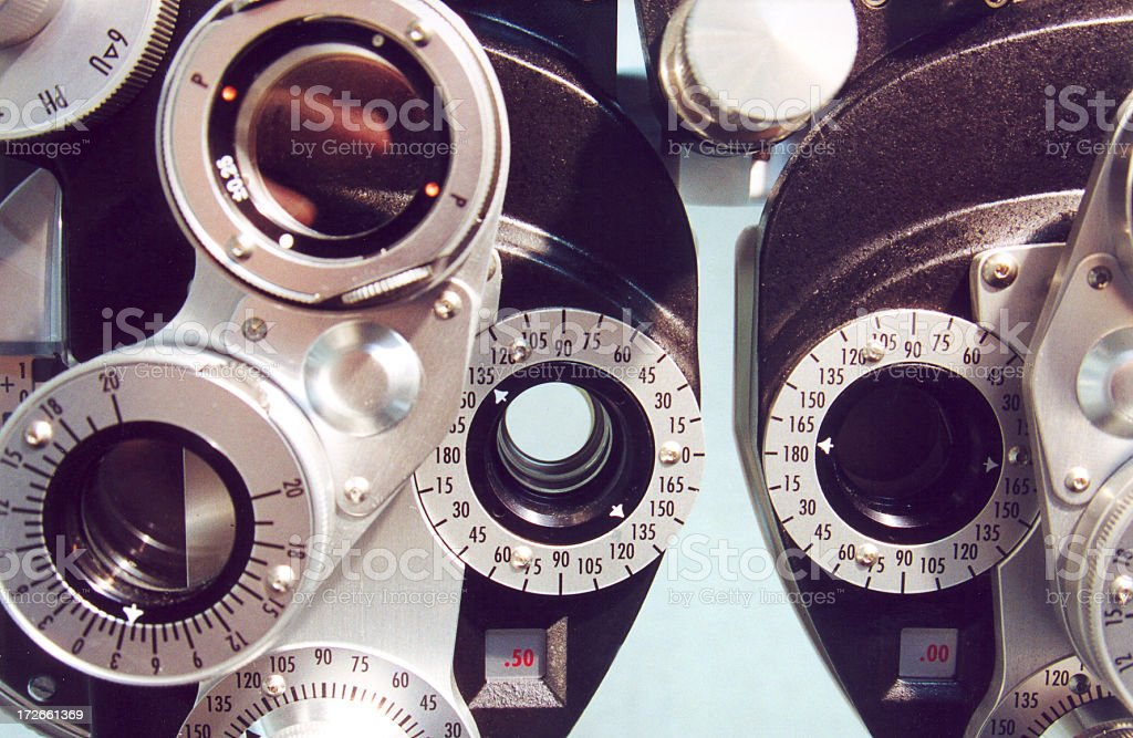 Eye Testing Equipment stock photo