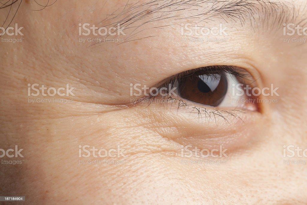 Eye wrinkles royalty-free stock photo
