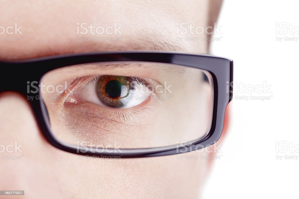 Eyeball and Glasses royalty-free stock photo
