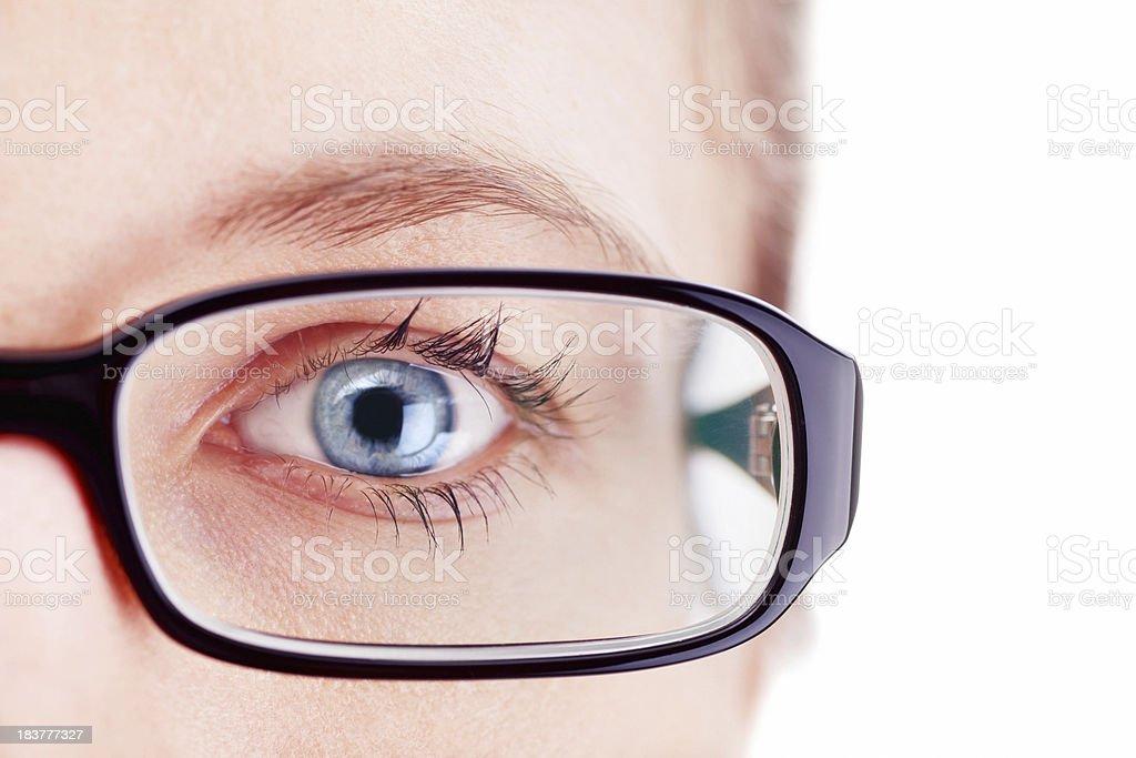 Eyeball and Glasses. royalty-free stock photo
