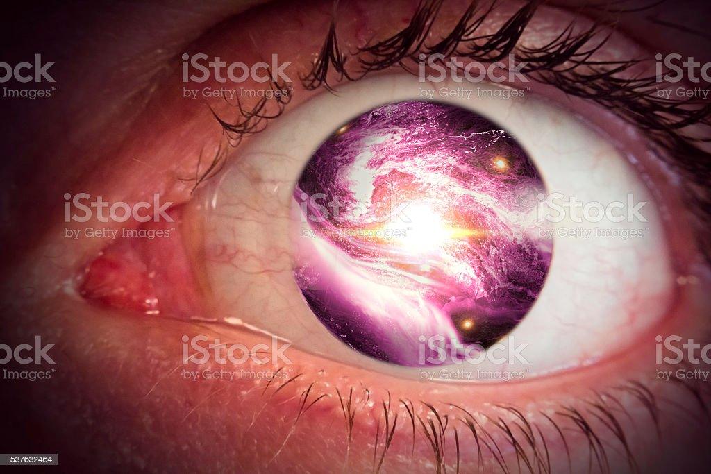 Eyeball Universe stock photo