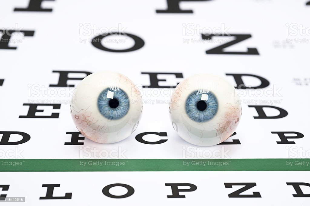 Eyeballs on chart stock photo