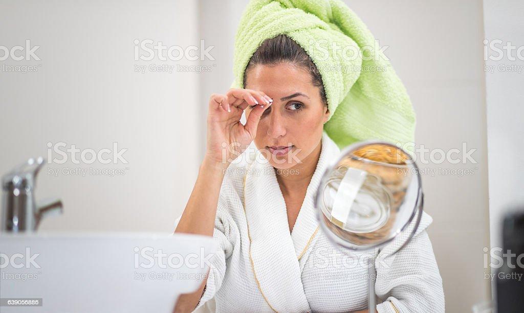 Eyebrow beauty treatment stock photo
