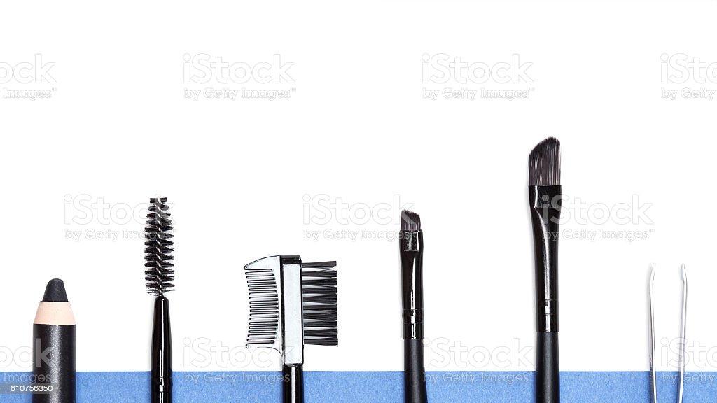 Eyebrow grooming tools stock photo