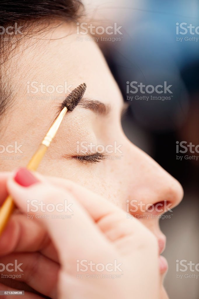 Eyebrow Make Up stock photo