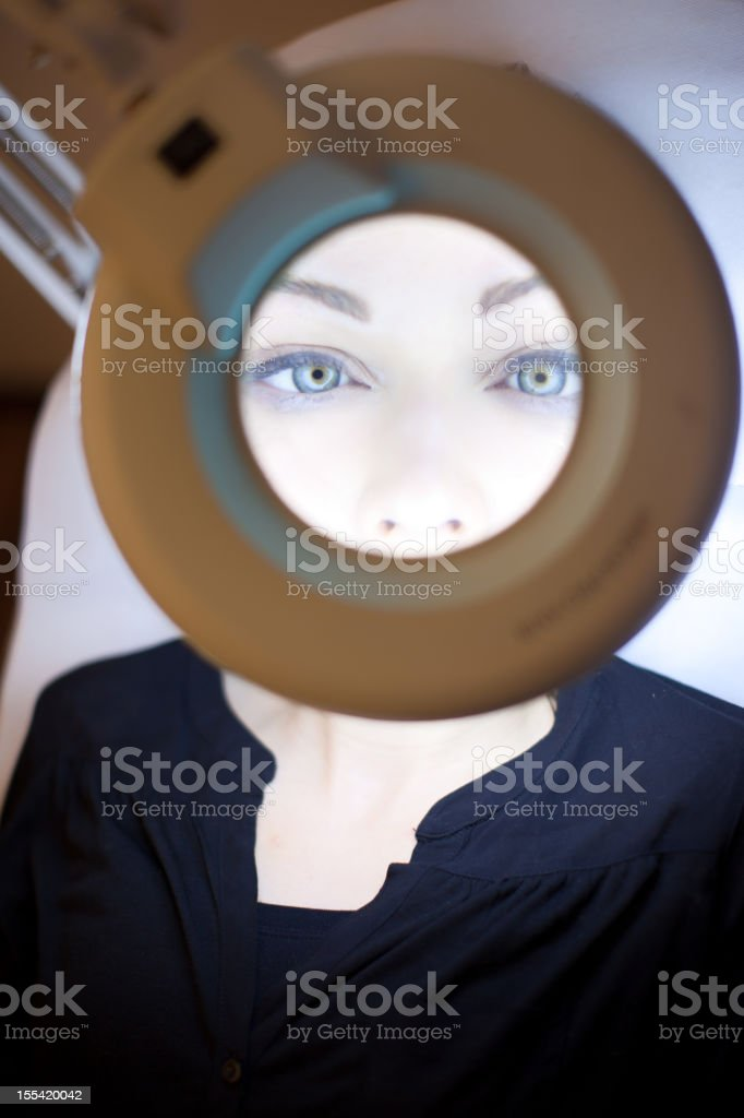 Eyebrow shapping royalty-free stock photo
