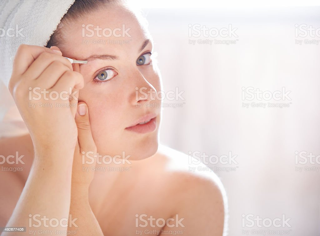 Eyebrows on fleek stock photo