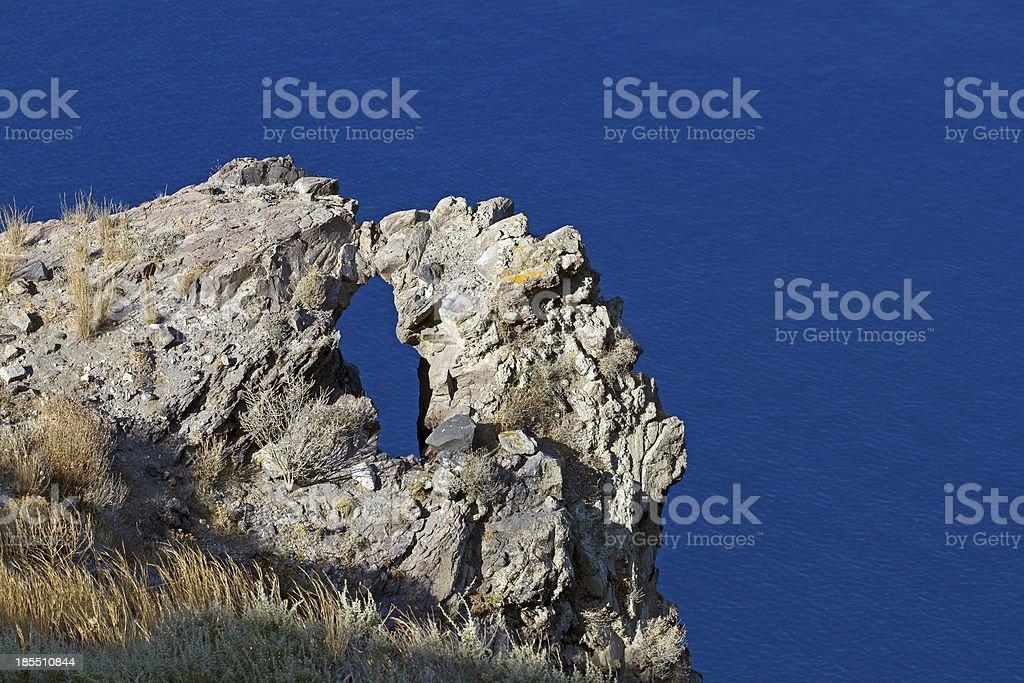 eyed rock royalty-free stock photo