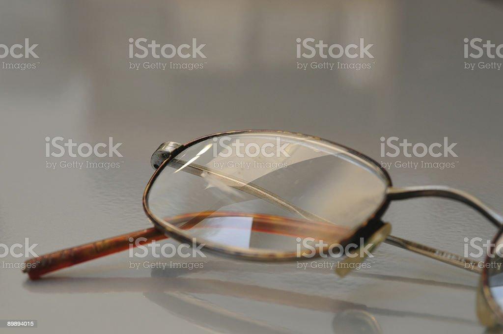 Eyeglass Detail stock photo