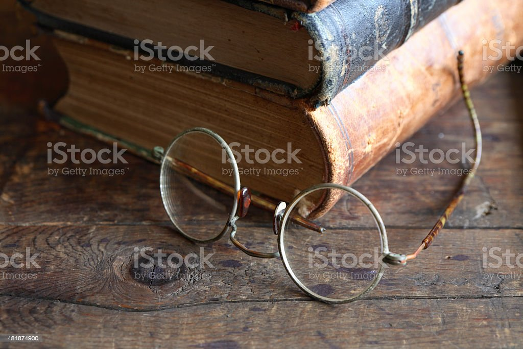 Eyeglasses And Books stock photo