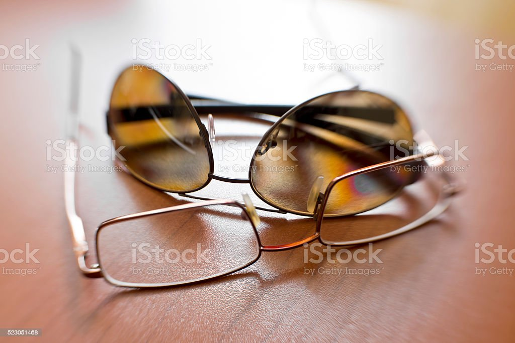 Eyeglasses and Sunglass stock photo