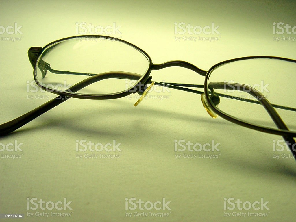 Eyeglasses Close-up 3 royalty-free stock photo