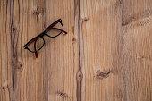 Eyeglasses Glasses on the wood table