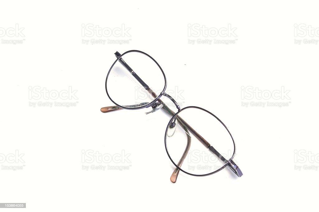 Eyeglasses isolated royalty-free stock photo