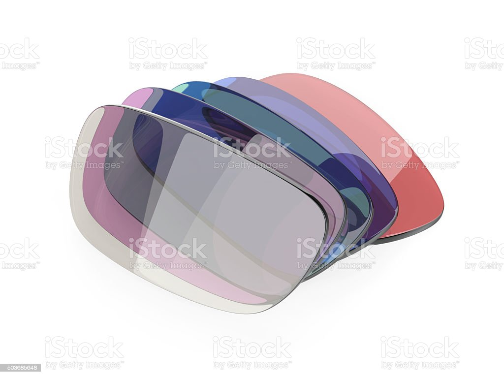 Eyeglasses lens stock photo