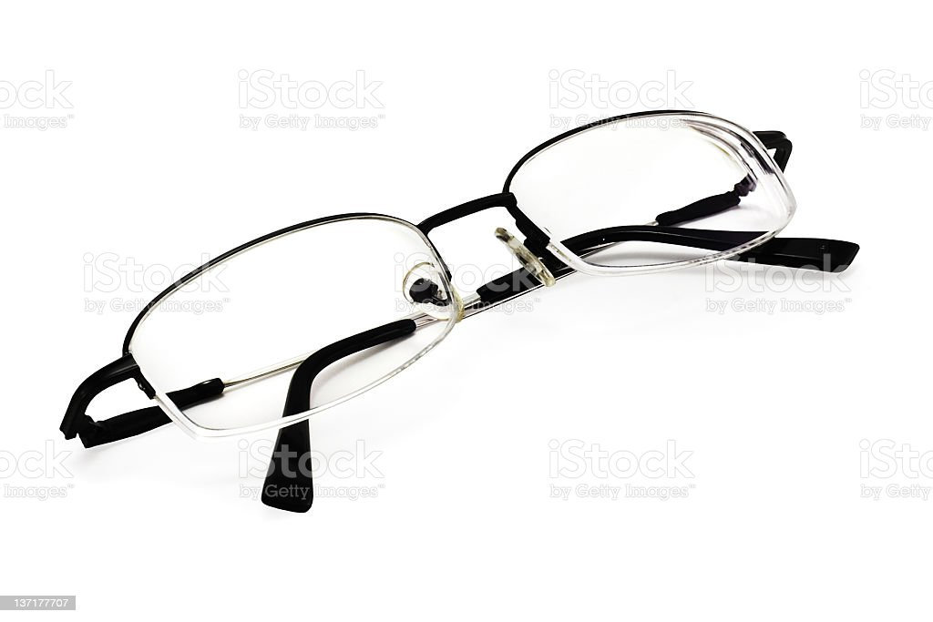 Eyeglasses on White (include clipping path) royalty-free stock photo