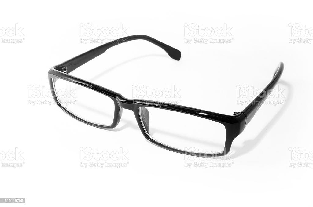 Eyeglasses with black frame royalty-free stock photo